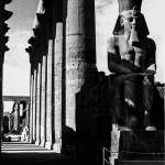 Luxor Temple with satue of sitting Ramses