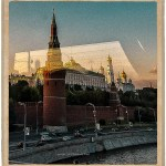 Post card of the Kremlin in Moscow