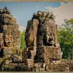 Heads of Bayon showing four faces