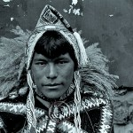 A Peruvian man, in his tribal clothing, resembles an Eskimo