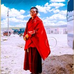a young monk on the steppes of Tibet