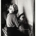 women weaving silk carpets Xinjiang, China