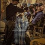 outdoor barber shop in Kashgar Market