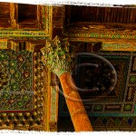 carved Islamic designs at Bolo Hauz Mosque in Bokhara