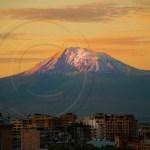 Mt. Ararat seen from Yerevan