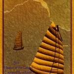 pseudo vintage poster Ha Long Bay and Junk