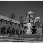 Santa Barbara Mission: Black and White