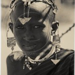 portrait of a Maasai girl with jewelry