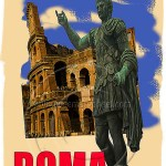 poster advertising Roman Coliseum
