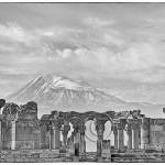 Armenian holocaust memorial with Mt. Ararat in background
