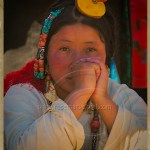 a Khampa girl dressed in her finery