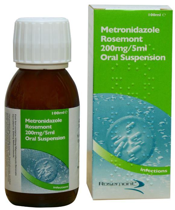 Metronidazole Oral Suspension - Antibiotic - Rosemont ...