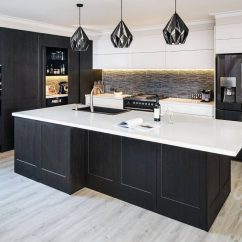 Kitchen Display Hardware Cabinets Our Showroom In Melbourne S Northern Suburbs The Dark Cabinetry And Walk Pantry This Inspired Lisa Greg Bitzas For Their Renovation
