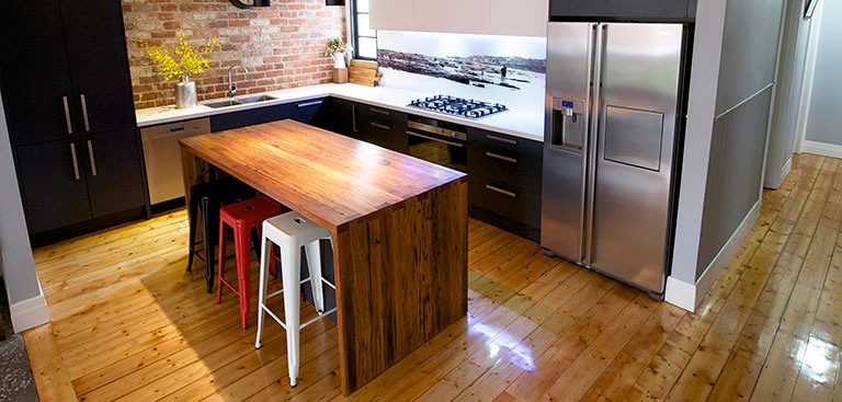 kitchen benches compact appliances benchtops melbourne rosemount kitchens timber island bench image