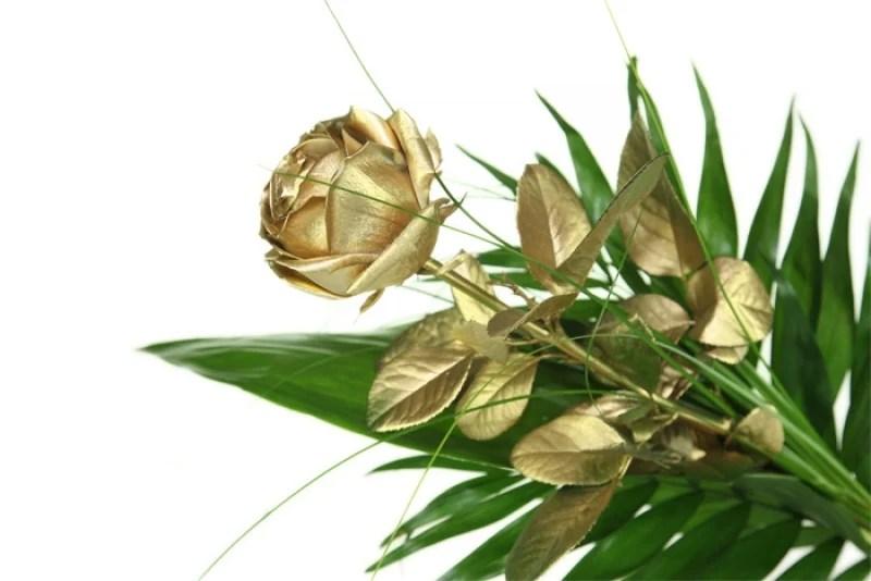 Goldene Rose zum Jubilum  online bestellen  Rosenbote