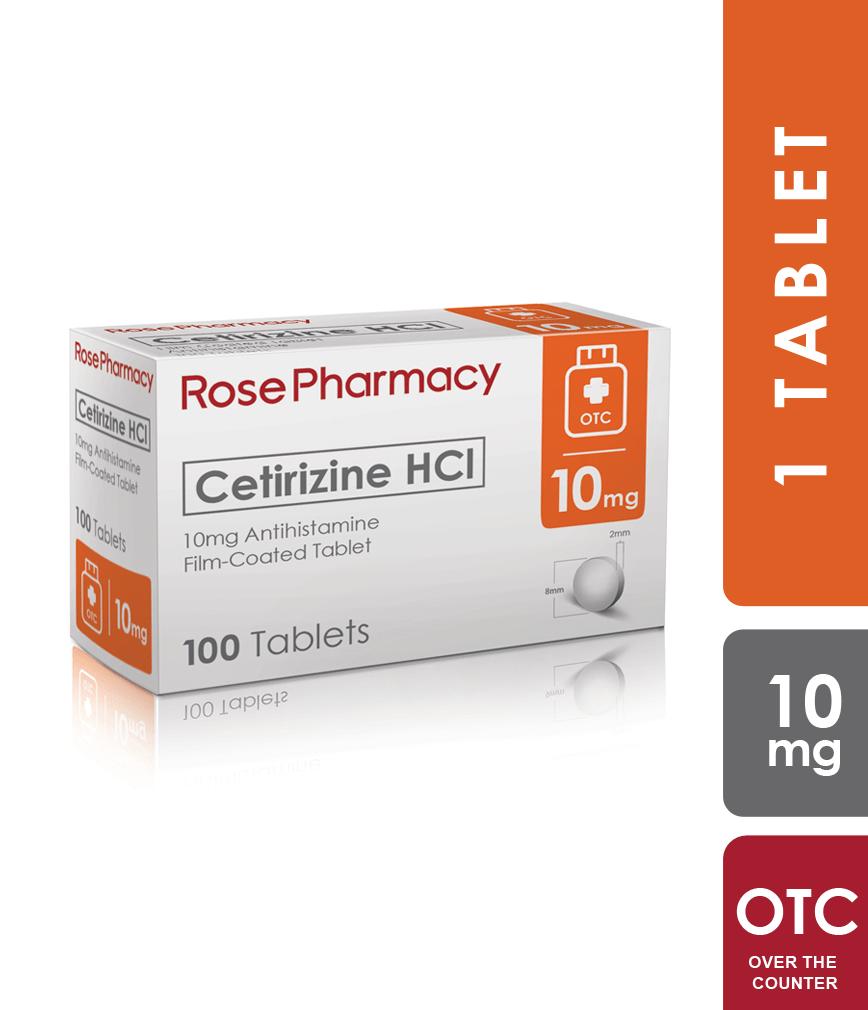 Cetirizine 10Mg Tablet - Rose Pharmacy Generics | Rose ...