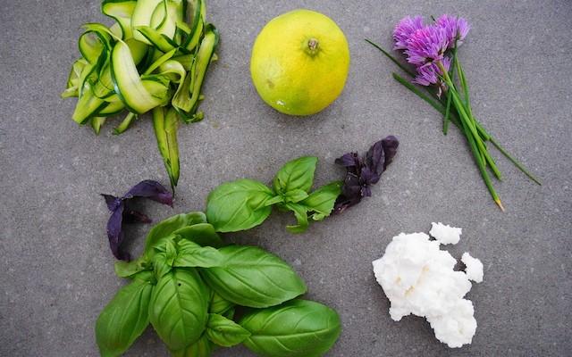 Ingrédients charlotte courgettes ricotta