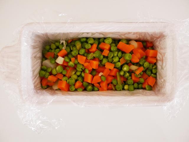 Légumes pour terrine petits pois carottes