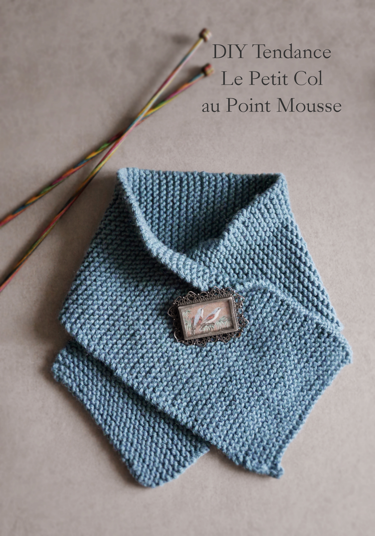 DIY Petit Col au Point Mousse