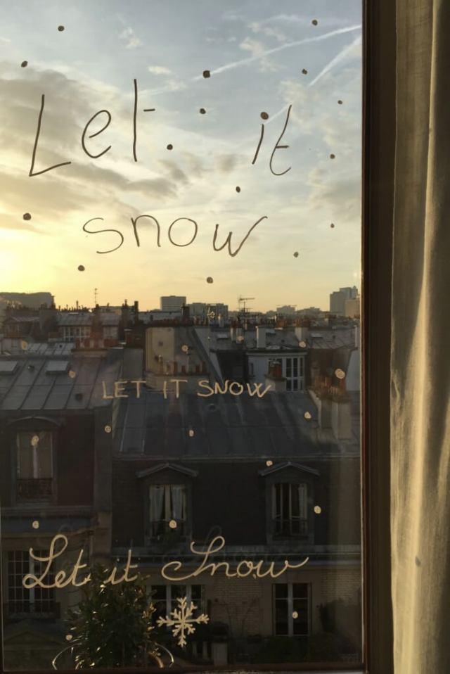décor de vitre pour Noël