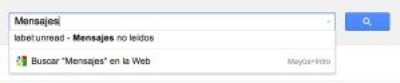 Captura del cuadro de búsqueda de Gmail