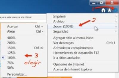 Hacer zoom en las páginas web en Internet Explorer 9