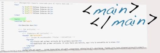 Etiqueta main de HTML5