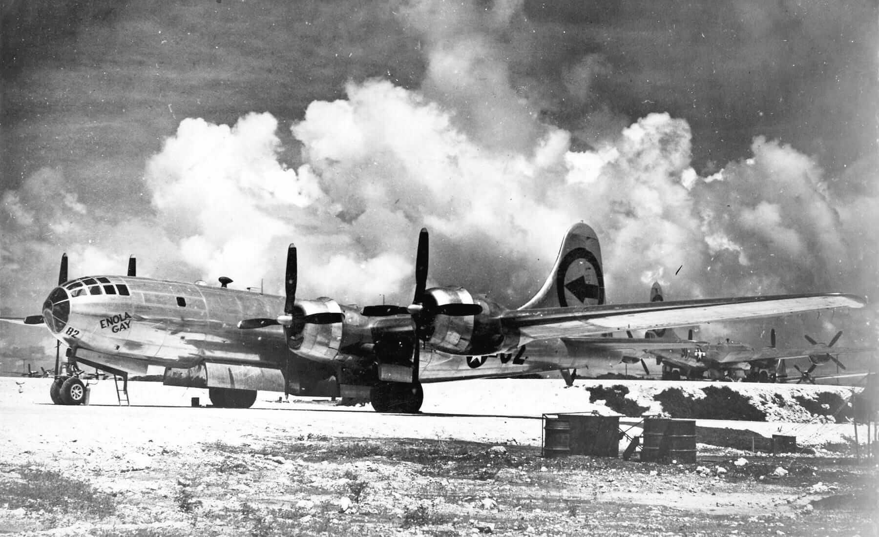 Bombardero Enola Gay, encargado de lanzar la bomba nuclear sobre Hiroshima