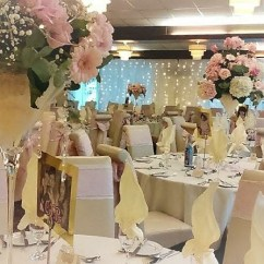 Blush Chair Sashes Uk Dining Room Covers Wedding Event Hoods Bows Lace To Hire Pink Sash With Ivory Taffeta Underlay Carlisle Cumbria