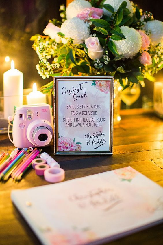 Top 20 Polaroid Wedding Guest Books  Roses  Rings