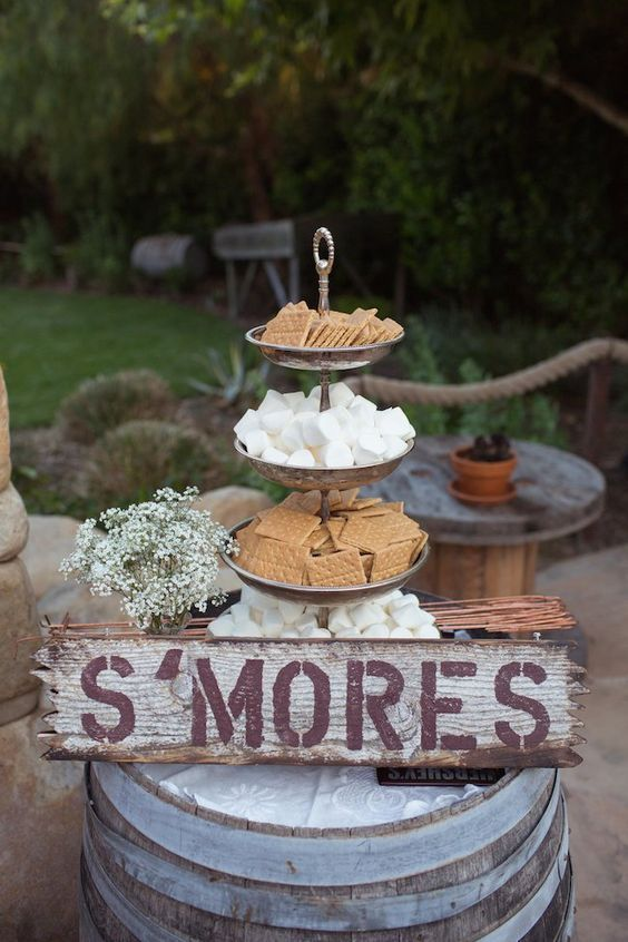 20 Best of Smore Bar Wedding Food Station Ideas  Roses  Rings