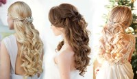 20 Half Up Half Down Wedding Hairstyles | Roses & Rings