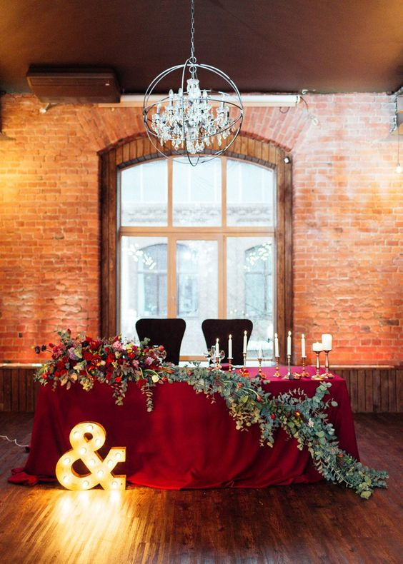 20 Fall Wedding Reception  Sweetheart Table Ideas  Roses  Rings