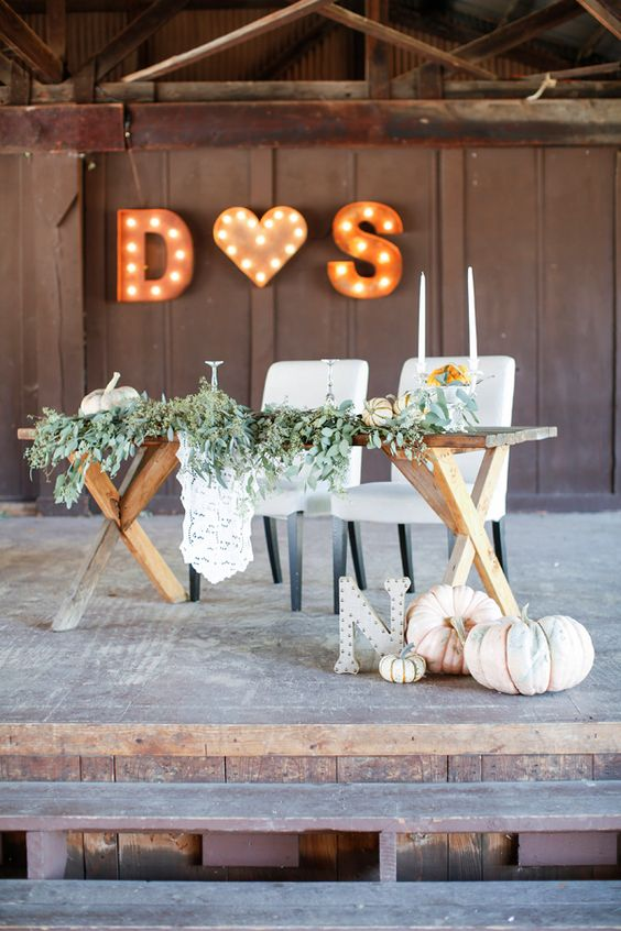 20 Fall Wedding Reception  Sweetheart Table Ideas  Roses  Rings  Part 2