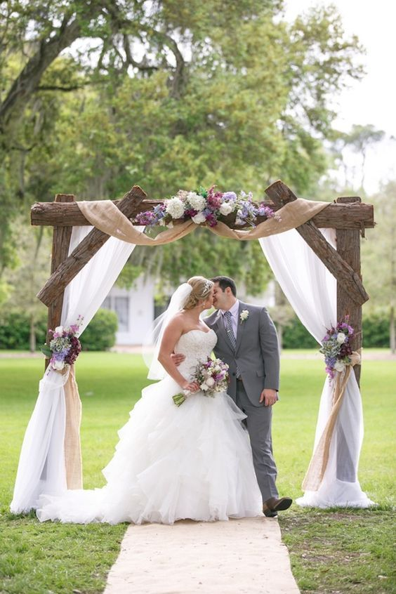Top 20 Rustic Burlap Wedding Arches  Backdrop Ideas
