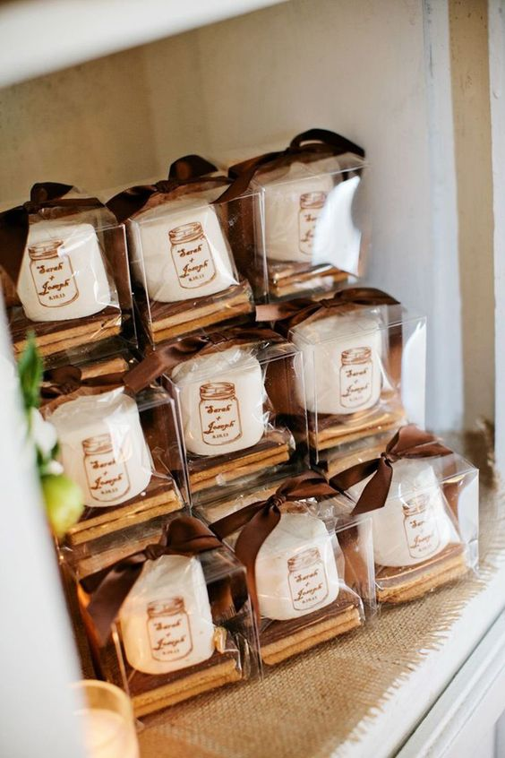 Top 20 Rustic Smore Wedding Favor Ideas  Roses  Rings