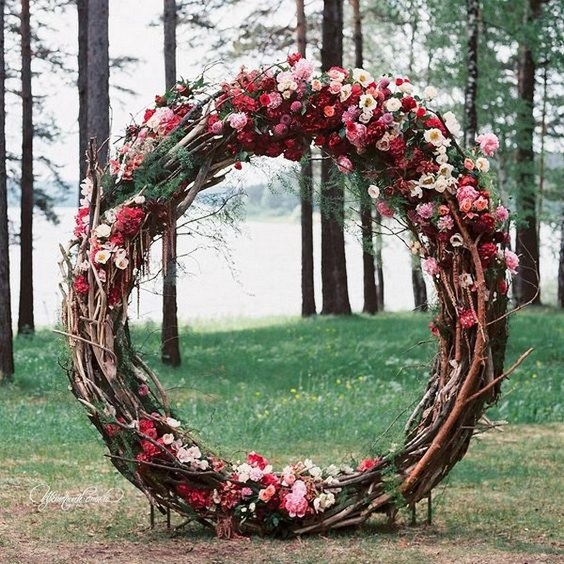 Top 20 Wreath  Circle Wedding Arches  Backdrops  Roses
