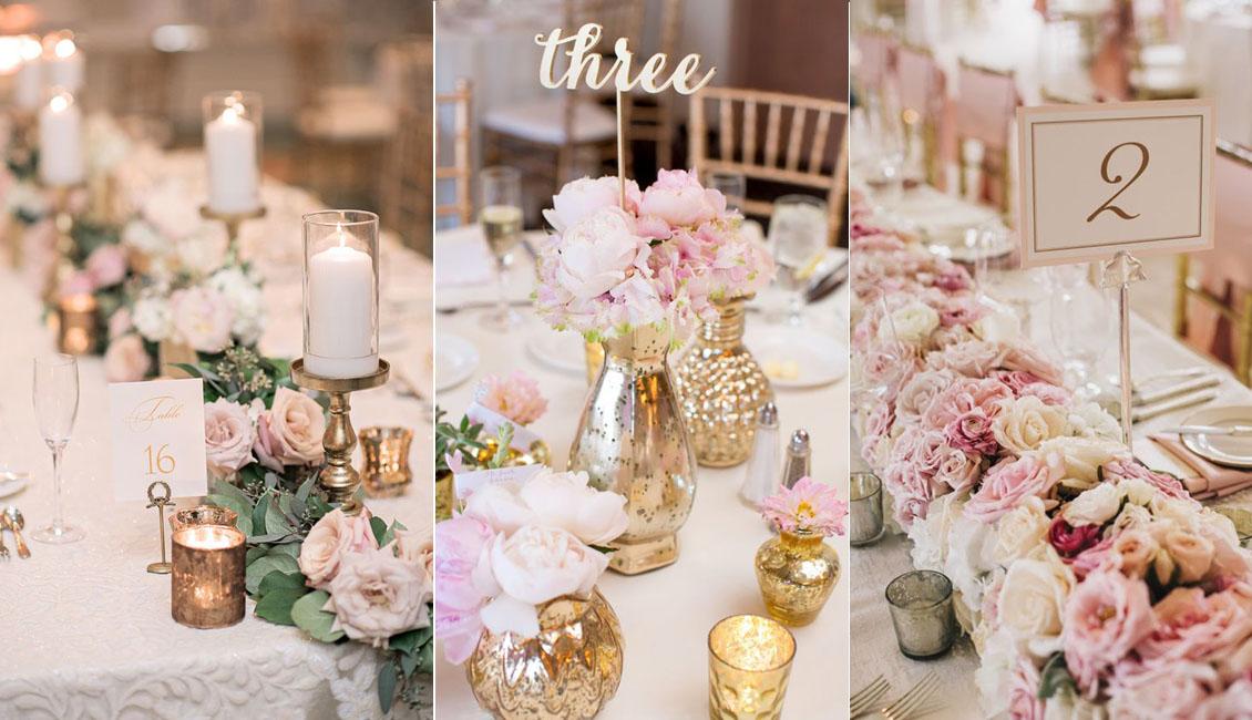 Top 20 Blush Pink Wedding Certerpieces  Roses  Rings
