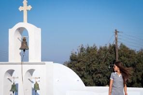Blanc et bleu à Santorin