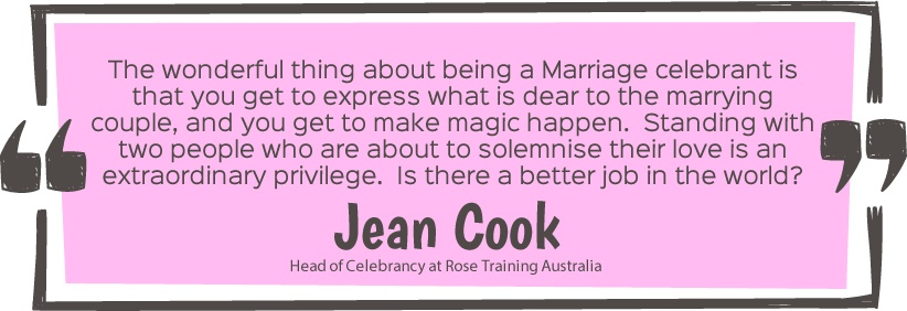 Jean Cook Quote - One year in, what has changed for marriage equality? Rose Training Australia