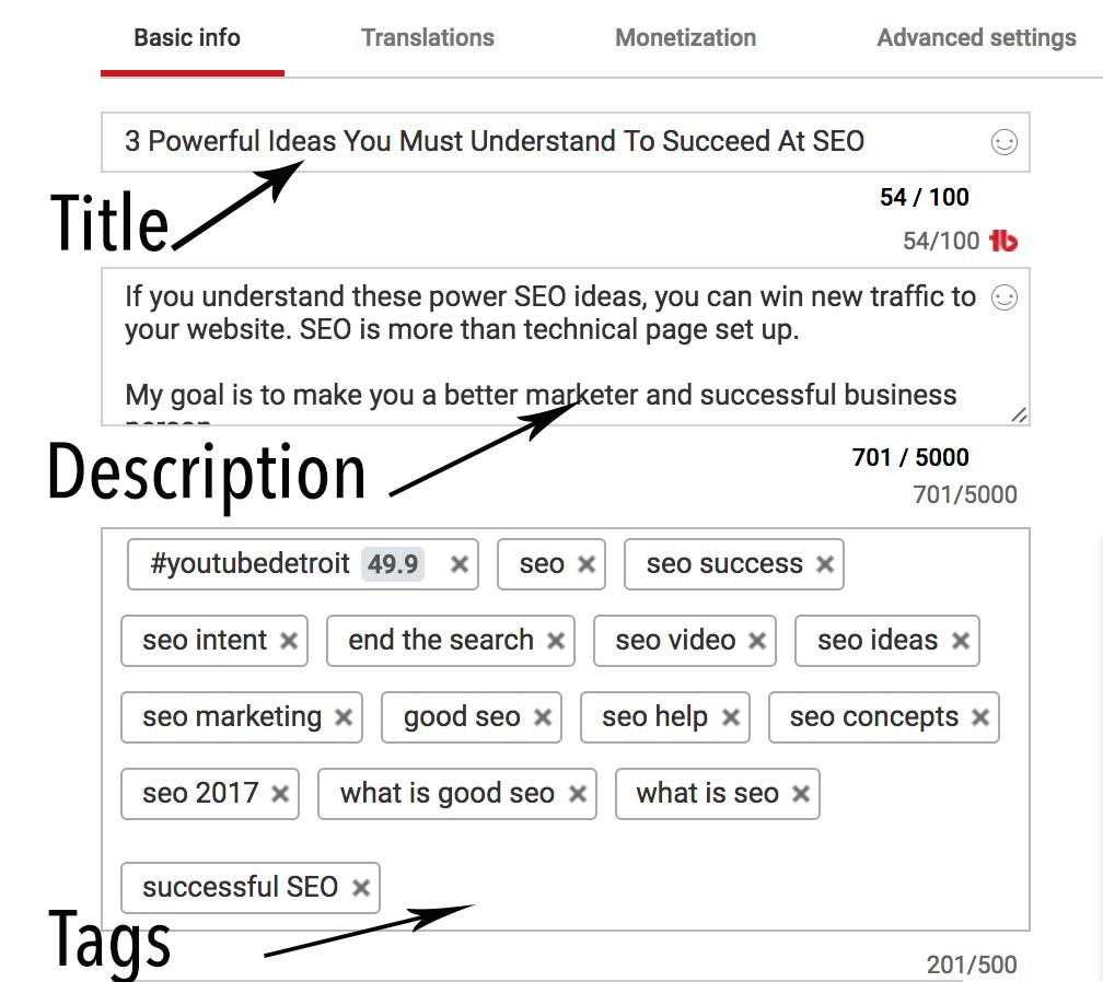 YouTube Tags for growth