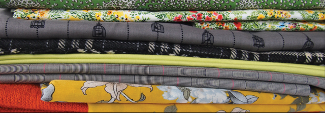 Stack of various fabrics