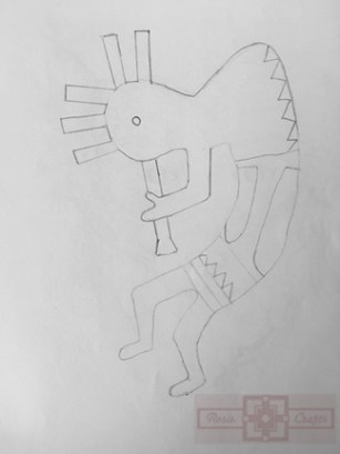 Artisan Tribes Kokopelli Drawing