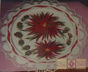 Rosie Crafts Christmas Poinsettia Plate
