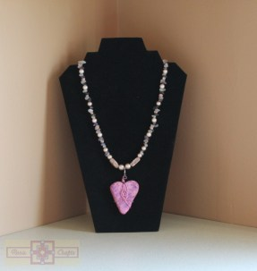 Rosie Crafts Polymer Clay Heart Necklace