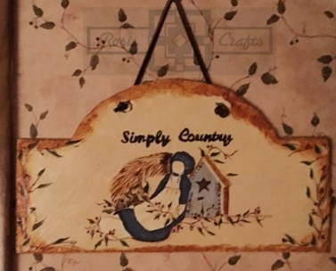 Rosie Crafts Painted Amish Country Plaque