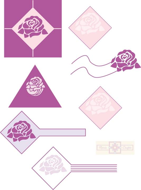 Rosie Crafts Logo Rose Designs