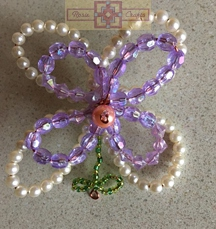 Rosie Crafts Beaded Flower Pin