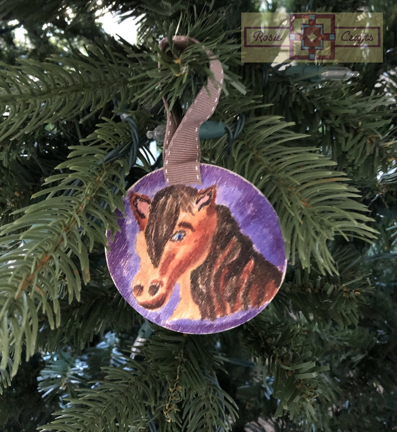 Rosie Crafts Christmas Horse Ornament