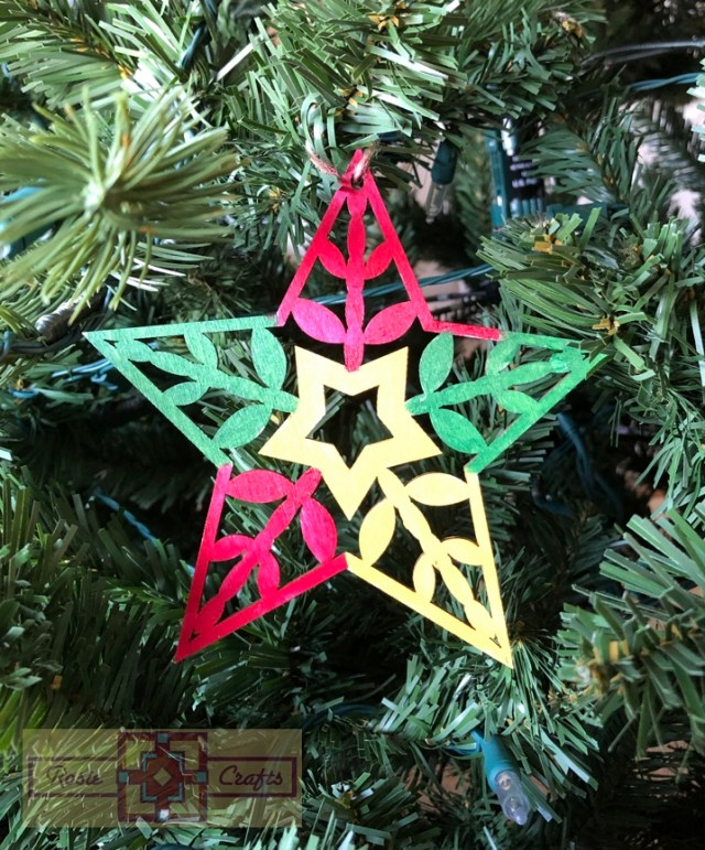 Rosie Crafts Christmas Multicolor Star Ornament